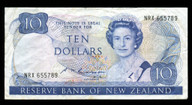 New Zealand - $10 Note - Russell - NRX655789 - Fine