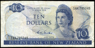 New Zealand - $10 Note - Wilks - 14K 785045 - Fine