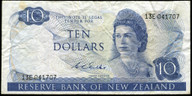 New Zealand - $10 Note - Wilks - 13E 041707 - Fine