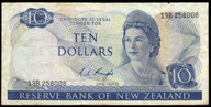 New Zealand - $10 Note - Knight - 19B 258008 - Fine