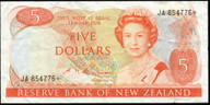 New Zealand - $5 - Russell - JA 854776* - Star Note - Good Fine