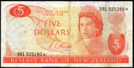 New Zealand - $5 - Knight - 991 325280* - Star Note - Fine
