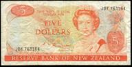 New Zealand - $5 - Russell - JDY763164 - Fine