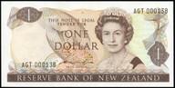 New Zealand - $1 - Hardie 'Type 2' - AGT000138 - Low Serial - Uncirculated
