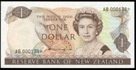 New Zealand - $1 - Hardie 'Type 2' - AB 000138* - Star Note - Uncirculated