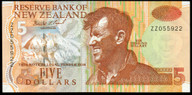 New Zealand - $5 - Brash - ZZ055902 - Replacement Note - Almost Uncirculated