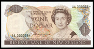 New Zealand - $1 - Hardie 'Type 2' - AA000038* - Star Note - Uncirculated