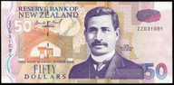 New Zealand - $50 - Brash - ZZ031081 - Replacement Note - Uncirculated