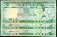 Fiji - $2 - D/16 999381 - D/16 999383 - P90a - aUnc
