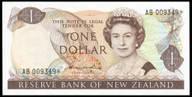 New Zealand - $1 Star Note - Hadie 'Type 2' -  AB 009349* - Uncirculated