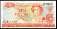 New Zealand - $5 Star Note - Russell -  JA 702725* - Uncirculated