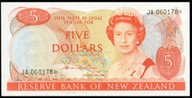 New Zealand - $5 Star Note - Hardie 'Type 2'-  JA 060178* - Uncirculated
