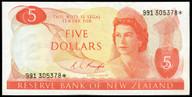 New Zealand - $5 Star Note - Knight - 991 305378* - gEF