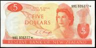 New Zealand - $5 Star Note - Knight - 991 305377* - gEF