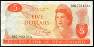 New Zealand - $5 Star Note - Knight - 990 796108* - EF