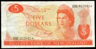 New Zealand - $5 Star Note - Knight - 990 802641* - VF