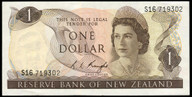 New Zealand - $1 - Knight - S16 719302 - Unc