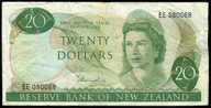 New Zealand - $20 - Hardie 'Type 1' - EE080068 - First Prefix - Fine