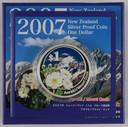 New Zealand - 2007 - Silver Dollar Proof Coin - Aoraki - Mount Cook