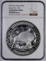 New Zealand - 2019 - Silver $20 Proof Coin - Brown Kiwi - 1KG - NGC PF70