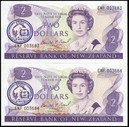 New Zealand - $1 - 2020 RNSNZ Conference Overprint Banknote Pair