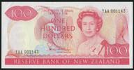 New Zealand - $100 - Hardie 'Type 2' - First Prefix - YAA 001143 - aUnc