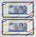 New Zealand - 1990 - $10 Commemorative Pair - BBB Prefix