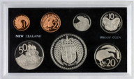 New Zealand - 1972 - Annual Proof Coin Set - Coat Of Arms - Cased