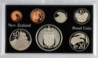 New Zealand - 1976 - Annual Proof Coin Set - Coat Of Arms - Cased