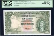 New Zealand - 10 Pounds - Final Prefix - Fleming - AS499699 - PCGS 65PPQ
