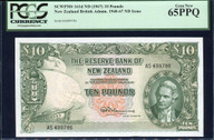 New Zealand - 10 Pounds - Final Prefix - Fleming - AS499786 - PCGS 65PPQ