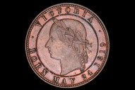 New Zealand - One Penny -  Auckland Lic. Victuallers
