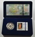 New Zealand - 1996 - $5 Proof Coin & $20 Overprint Banknote Set