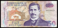 New Zealand - $50 Note - Brash - BA028022 - Fine