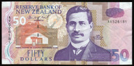 New Zealand - $50 Note - Brash - AV526181 - VF