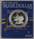 New Zealand - 2005 - Silver Dollar Proof Coin - Rowi Kiwi