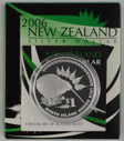 New Zealand - 2006 - Silver Dollar Proof Coin - North Island Brown Kiwi