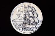 New Zealand - 2003 - Fifty Cents - Major Error - Broad Strike - KM119 - Unc (OM-A2964)