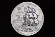 New Zealand - 1980 - Fifty Cents - Major Error - No Milling - KM37 (OM-A2965)