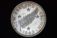 New Zealand - 1949 - Crown - KM22 - Almost Uncirculated (OM-A2975)