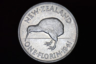 New Zealand - 1941 - Florin - KM10 - Almost Uncirculated (OM-A2978)