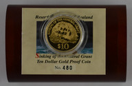 New Zealand - 1996 -  Gold $10 Proof Coin - Sinking Of General Grant