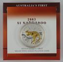 Australia - 2003 - Silver Gilt $1 Proof Coin - Kangaroo