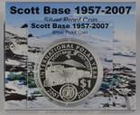 New Zealand - 2007 - Silver Dollar Proof Coin - Scott Base