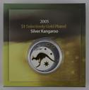 Australia - 2005 - Silver Gilt $1 Proof Coin - Kangaroo