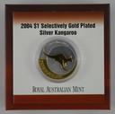 Australia - 2004 - Silver Gilt $1 Proof Coin - Kangaroo