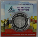New Zealand - 2007 - Silver Dollar Proof Coin - Centenary Of Scouting