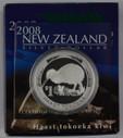New Zealand - 2008 - Silver Dollar Proof Coin - Haast Tokoeka Kiwi