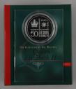 Australia - 2002 - Silver 50c Proof Coin - 50th Anniversary - Accession Of QEII