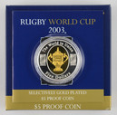 Australia - 2003 - Silver Gilt $5 Proof Coin - Rugby World Cup